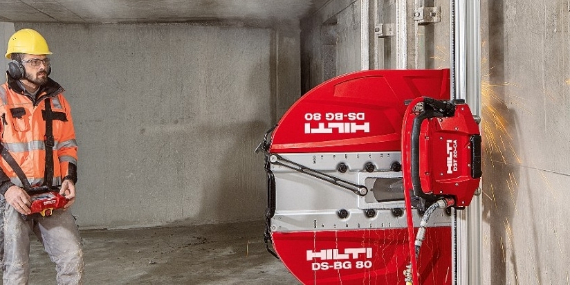Hilti Electric diamond wall saw has more cutting power and starting torque