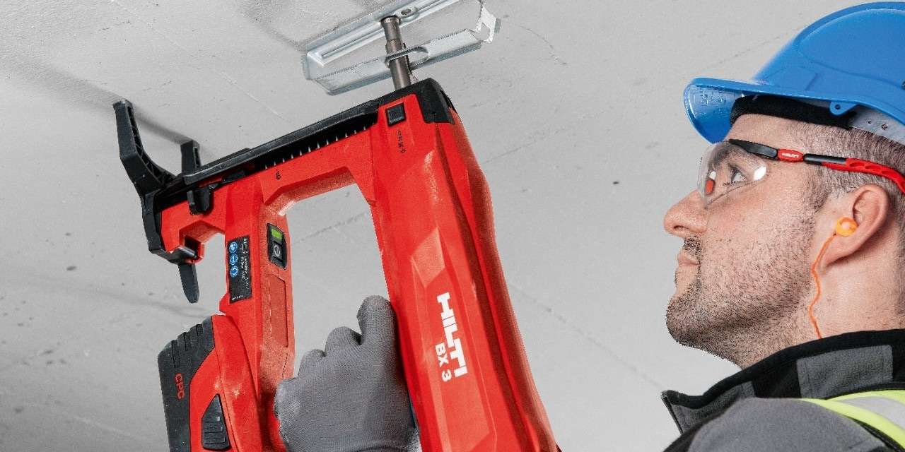 Hilti X-ECH-FE MX cable holder for bunched cables and Hilti X-EKB-FE  MX cable clasp