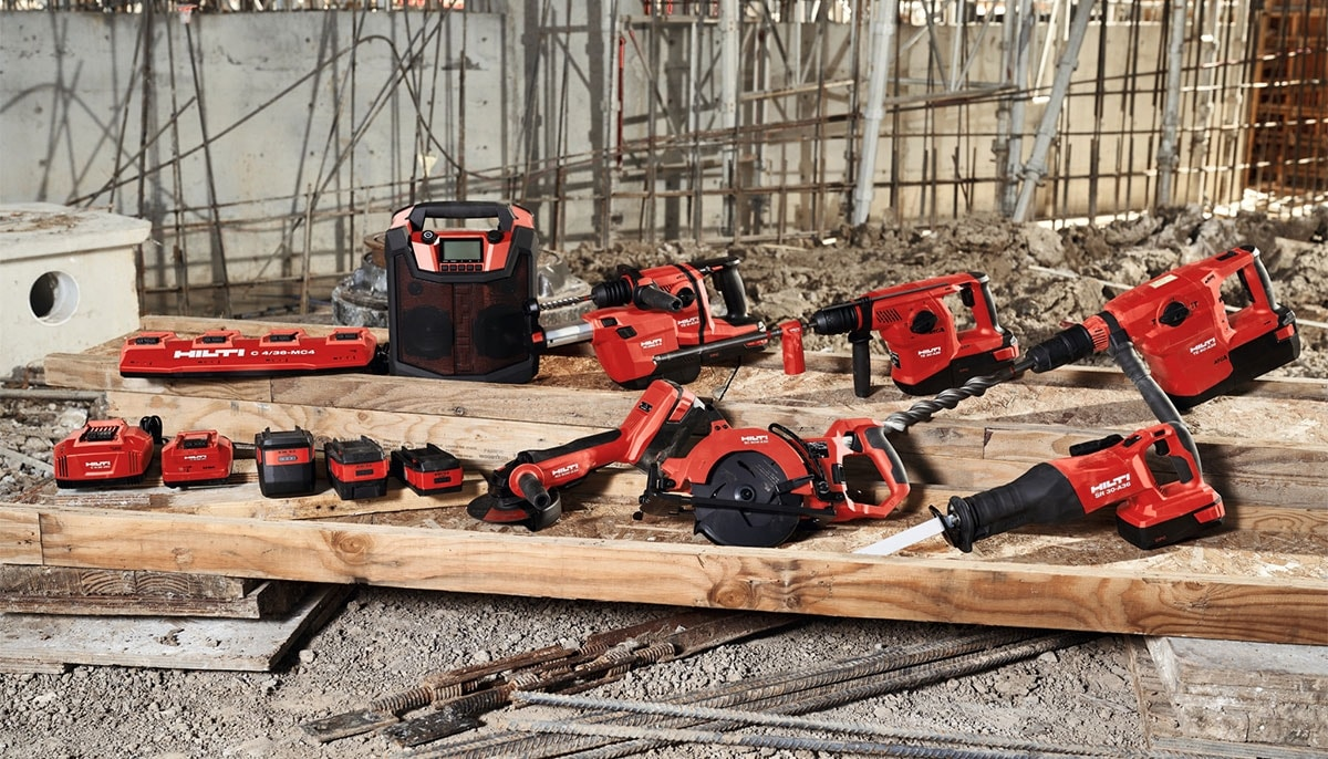 Hilti Portfolio of 36 Volt tools