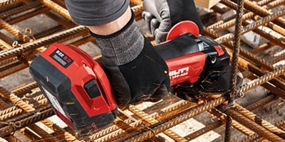 Hilti batteries have a reinforced outer casing to protect against damage