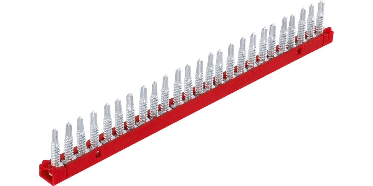 Range of Hilti collated strips and screws