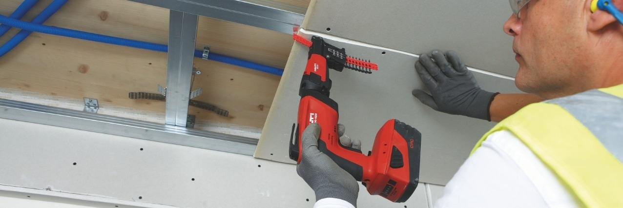 Hilti screw fastening system for drywallers